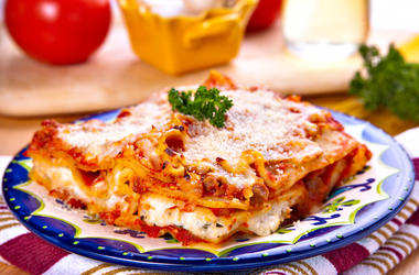Lasagna, Italian, Food, Plate
