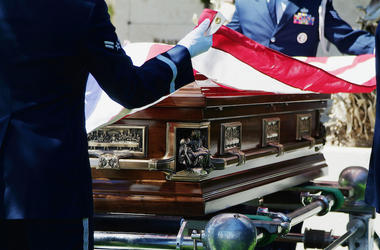 Honor Guard, Flag, Casket, Military Funeral