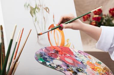 Artist, Painting, Brush, Easel, Palette, Hand