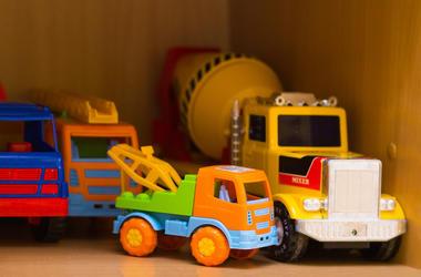 Toys, Kindergarten, Classroom, Shelf, Trucks