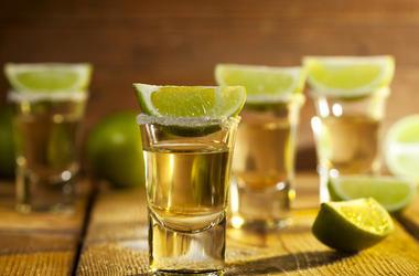 Tequila, Shots, Lime, Salt