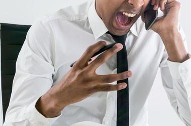 Man, Angry, Furious, Shouting, Phone Call