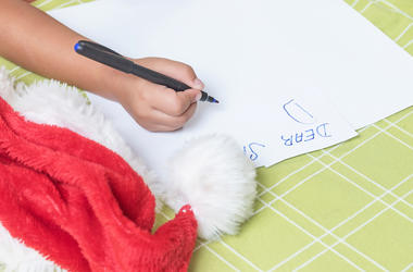 Santa, Letter, Pen, Writing, Hat, Christmas