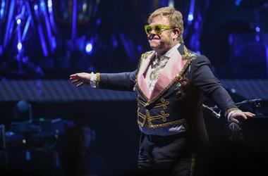 Sir Elton John performs