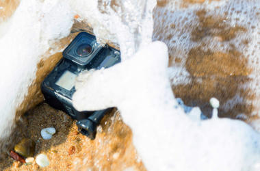 GoPro in water