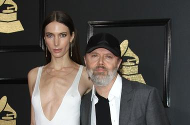 Lars Ulrich and Jessica Miller at 59th Annual Grammy Awards