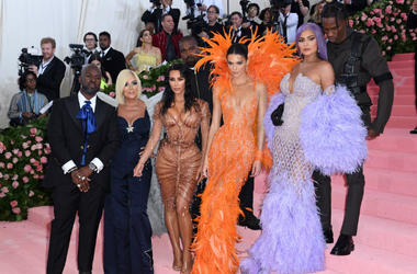 Corey Gamble, Kris Jenner, Kim Kardashian-West, Kanye West, Kendall Jenner, Kylie Jenner and Travis Scott