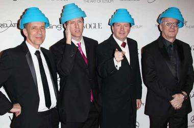 DEVO, Red Carpet, Bob Mothersbaugh, Joshe Freese, Gerald Casale, Mark Allen Mothersbaugh, Art of Elysium Heaven Gala, 2011