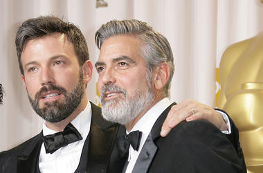 Ben Affleck, George Clooney, 85th Annual Academy Awards, Backstage, Winners