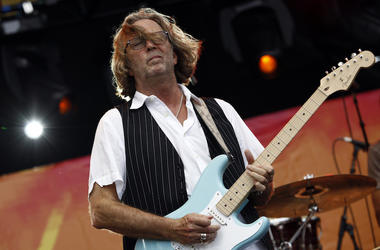 Eric Clapton, Concert, Electric Guitar, Long Hair