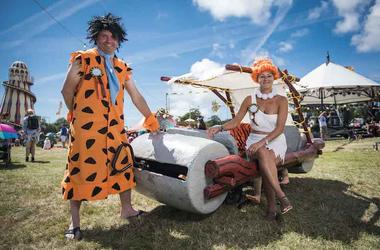 The Flintstones, Costumes, Festival, Music, Outdoors, Flintstone Mobile, Fred Flintstone, Wilma Flintstone