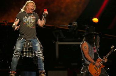 Axl Rose, Slash, Guns N Roses, Concert, Madison Square Garden, 2017
