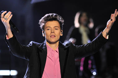 Harry Styles, Performing, Pink Shirt, Victoria's Secret Fashion Show, 2017