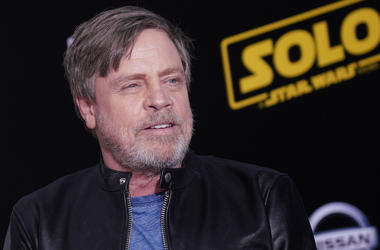 Mark Hamill, Red Carpet, Solo, Leather Jacket, 2018, Smile