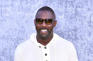 Idris Elba, Sunglasses, White Hoodie, Smile, Red Carpet, Yardie, Premiere