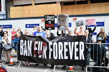 PETA, Protest, Ban Fur Forever, London, 2018