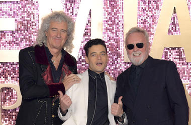 Brian May, Rami Malek, Roger Taylor, Queen, Bohemian Rhapsody, World Premiere, 2018