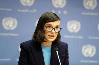 Millie Bobby Brown, Speech, United Nations, 2018