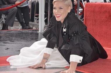 P!nk, Hollywood Walk of Fame, Star, Smile, 2019