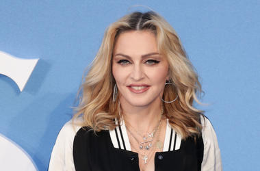 Madonna, Red Carpet, Blue Background, Smile, 2019
