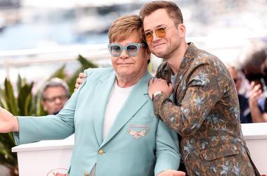 Elton John, Taron Egerton, Rocketman, Photocall, Cannes Film Festival, 2019