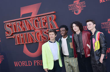 Stranger Things, Red Carpet, World Premiere, Gaten Matarazzo, Caleb McLaughlin, Finn Wolfhard, Noah Schnapp