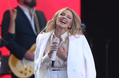Kylie Minogue, Glastonbury, Concert, Performing, Smiling, 2019