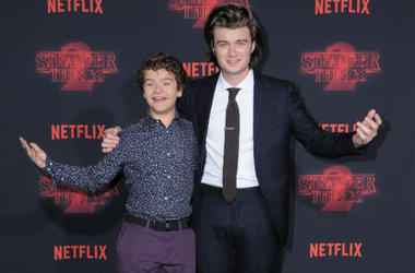 Gaten Matarazzo and Joe Keery