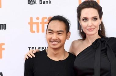 Angelina Jolie and son Maddox