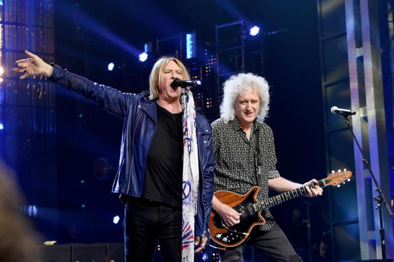 Joe Elliott and Brian May