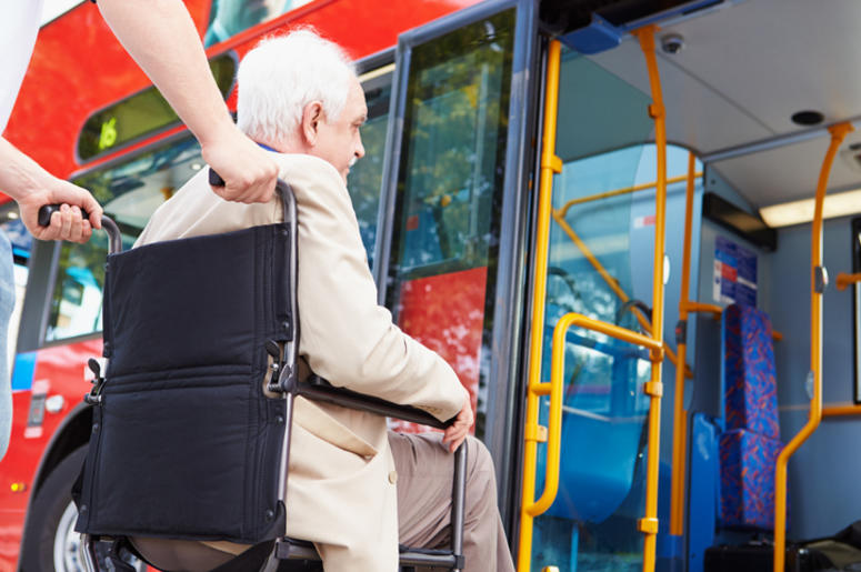 Old Man on the bus