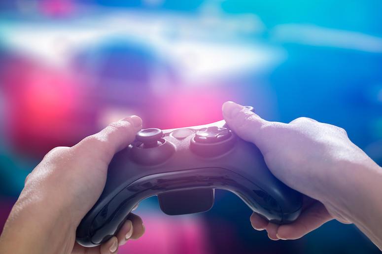 Video Game, Controller, Screen, Monitor