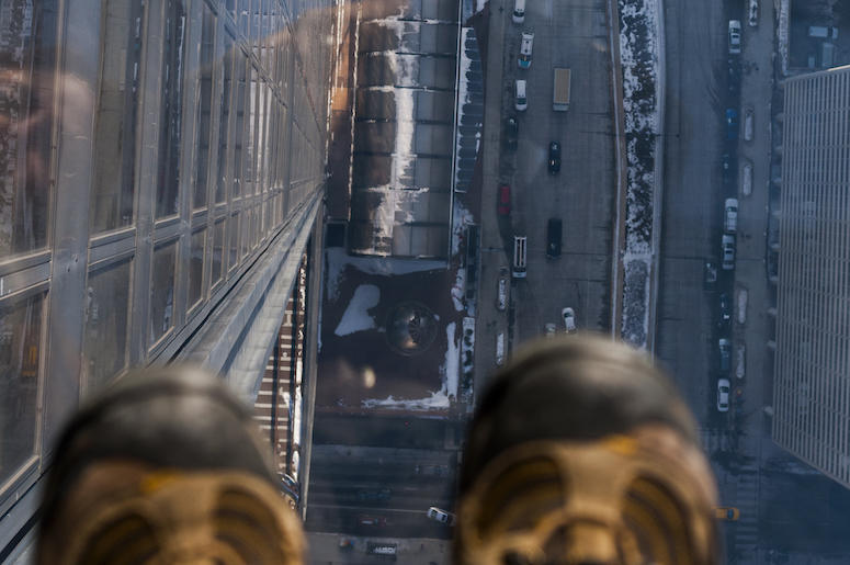 SkyDeck, Willis Tower, Chicago, Shoes, Glass, Looking Down