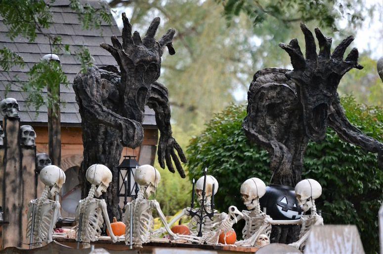 Halloween, Decorations, Yard, Skeletons