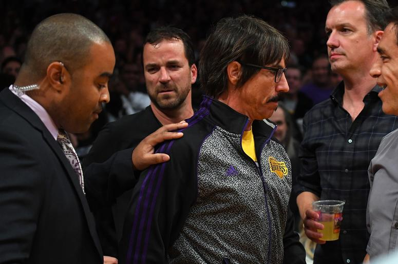 Anthony Kiedis At the Lakers Game