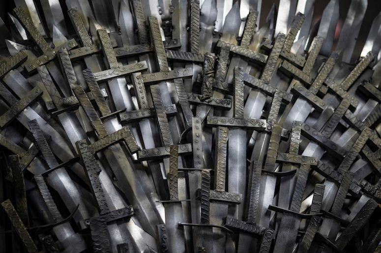 Iron Throne, Replica, Swords, Close Up, Full Size, Knight School of Welding, 2019