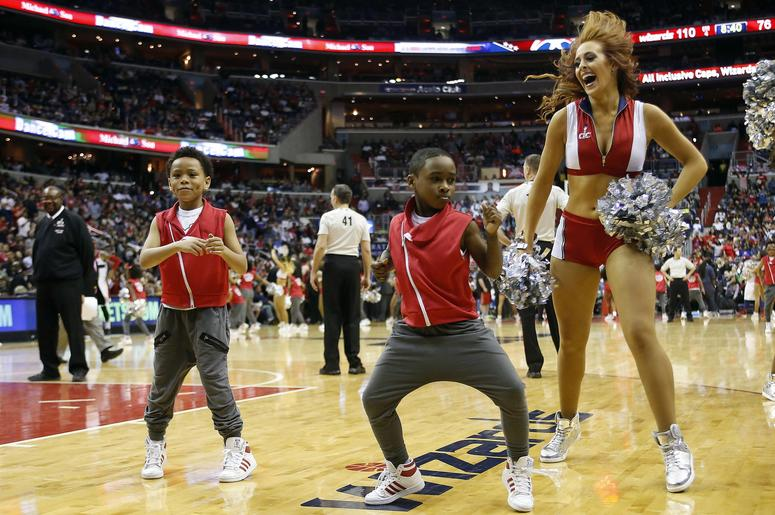 Kid Dancing At An NBA Game