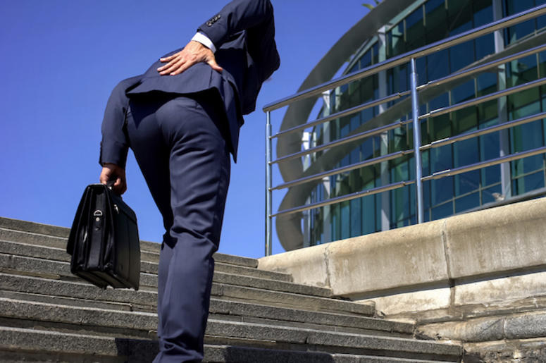 Manager, Worker, Office, Bent Over, Back, Slipped Disc