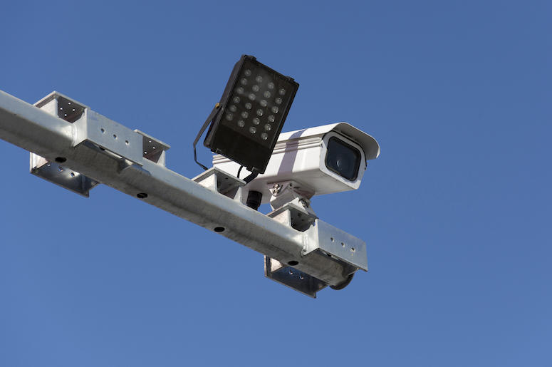 Traffic, Camera, Blue Sky, Isolated