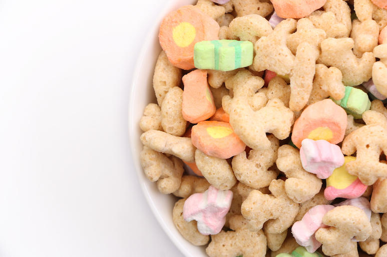 Cereal, Bowl, Marshmallows