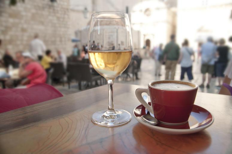 Wine, Coffee, Cafe, Crowded Street