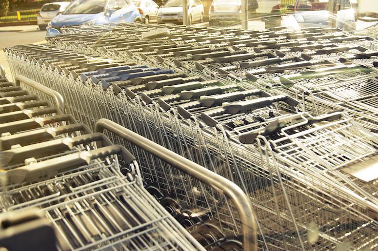 Shopping Carts, Organized, Return Area