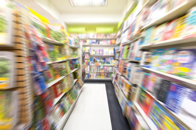 College, Bookstore, Shelves, Books, Blurry