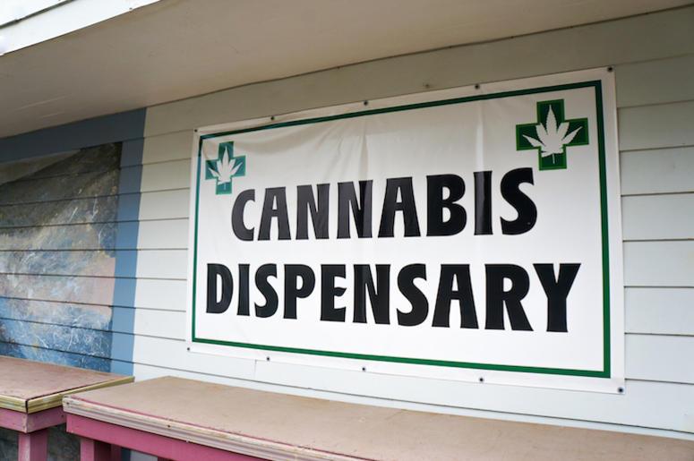 Cannabis, Marijuana, Dispensary, Storefront, Sign