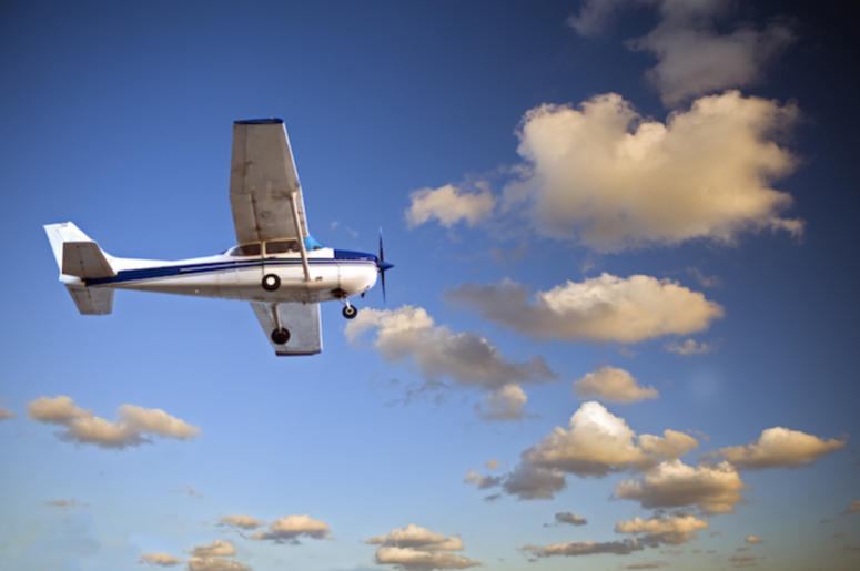 Small Airplane, Flying, Twilight