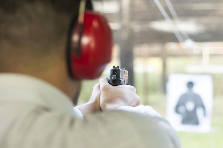 Gun Range, Firearm, Shooting, Target