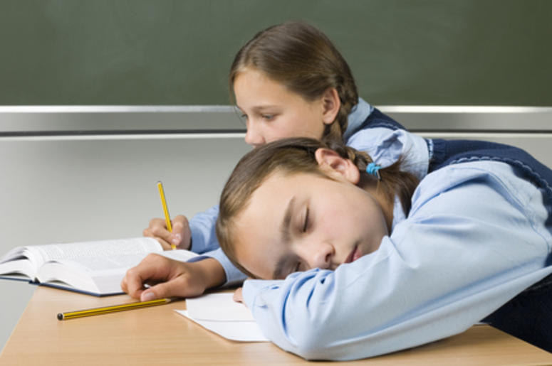 Kids Sleeping in Class