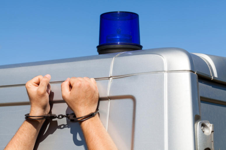 Guy in handcuffs