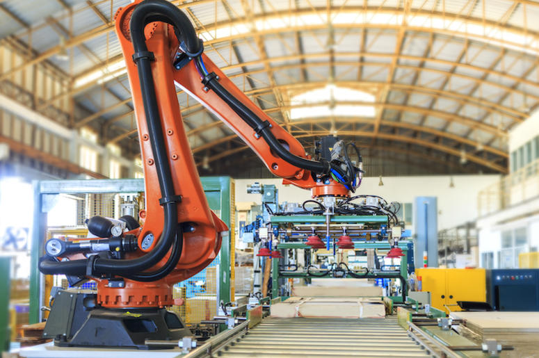 Industrial Robot, Factory, Warehouse, Pallet