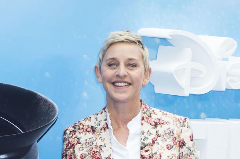 Ellen DeGeneres, Red Carpet, Smile, Floral Shirt
